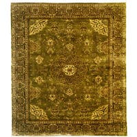 Hand Knotted Classic Agra Design Rug - 5'11 x 9'