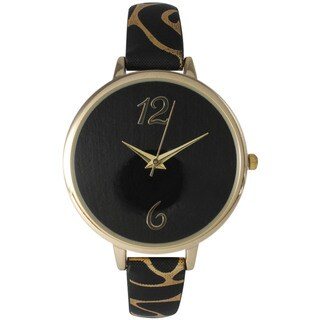 Olivia Pratt Women's Petite Leather Spotted Watch