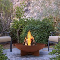 Real Flame Anson Wood Burning Fire Bowl Rust