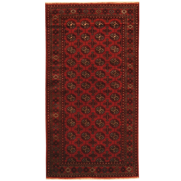 Handmade One-of-a-Kind Balouchi Wool Rug (Afghanistan) - 3'5 x 6'6