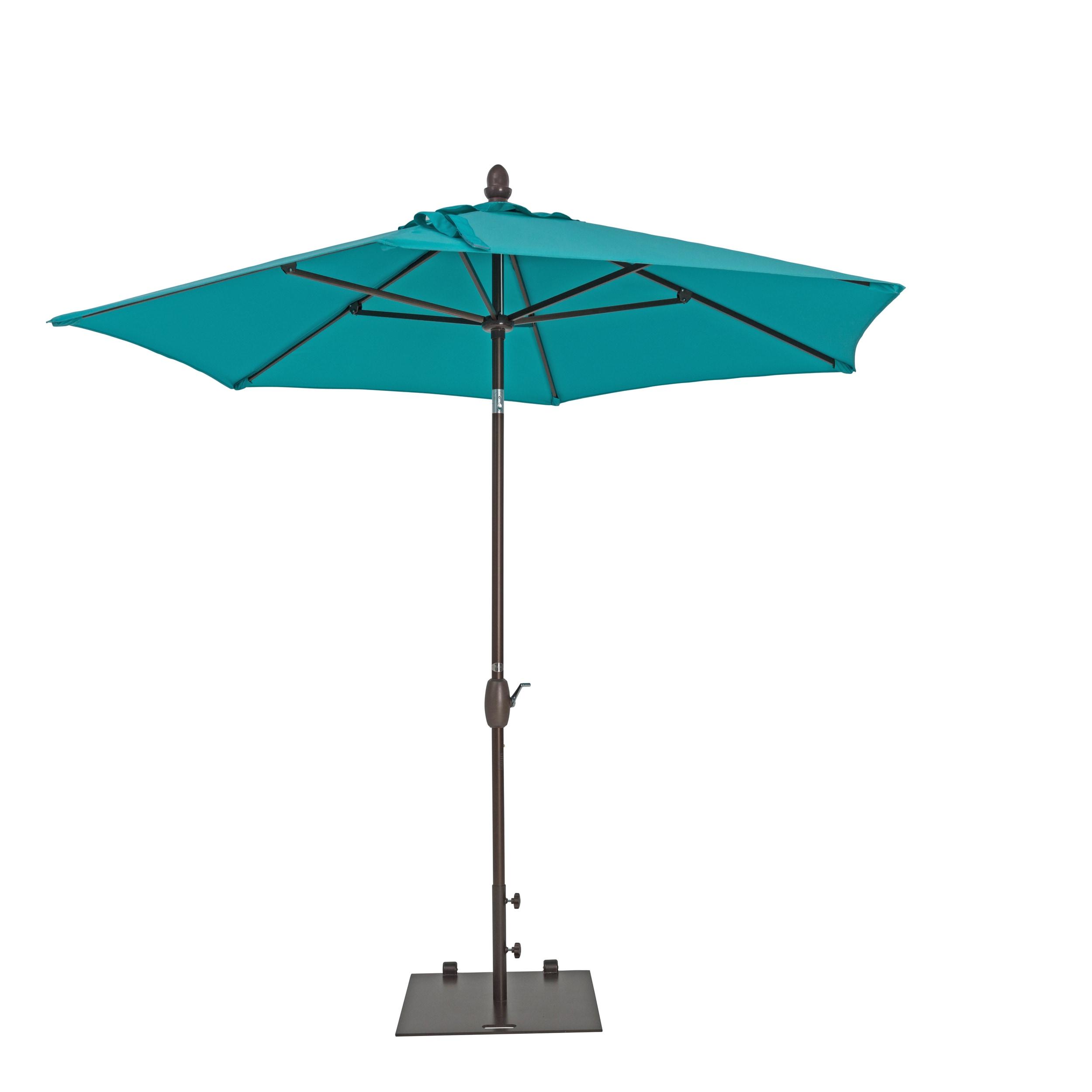 9 Foot Aluminum Garden Parasol With Tilt And Crank Ebay