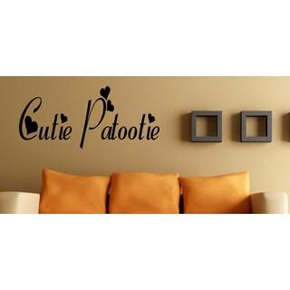Hearts Cutie Patootie Wall Art Sticker Decal