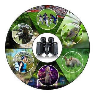 Mini Telescope BAK4 8 x 30-inch Black Prism Binoculars with Neck Strap and Soft Protective Bag