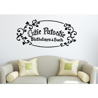 Quote Framed Cutie Patootie Wall Art Sticker Decal