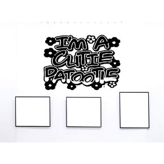 Graffiti Cutie Patootie Wall Art Sticker Decal