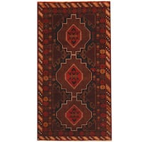 Herat Oriental Afghan Hand-knotted 1960s Semi-antique Tribal Balouchi Wool Rug (3'6 x 6'7)