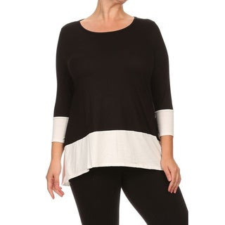 MOA Collection Plus Women's Colorblock Top (More options available)