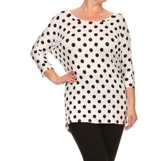 MOA Collection Plus Women's Polka Dot Top