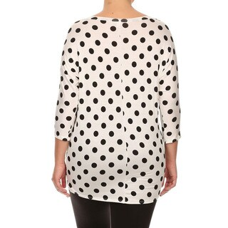 MOA Collection Plus Women's Polka Dot Top