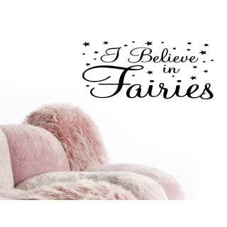 Stars I Believe in Fairies quote Wall Art Sticker Decal