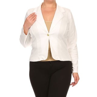 MOA Collection Plus Women's Blazer Jacket