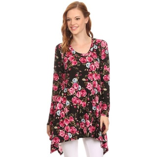 MOA Collection Women's Floral Shirt Dress