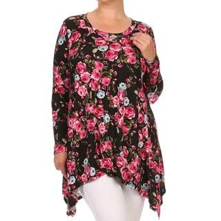 MOA Collection Plus Size Floral Shirt Dress