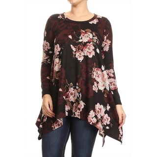 MOA Collection Plus Size Floral Shirt Dress (3 options available)