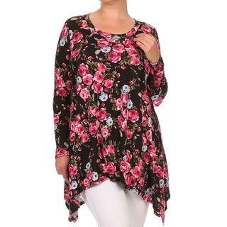 MOA Collection Plus Size Floral Shirt Dress
