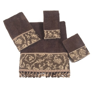 Damask Fringe 4-Piece Towel Set