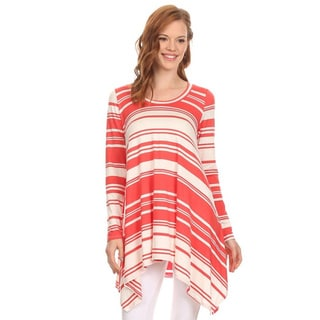 MOA Collection Women's Striped Shirt Dress