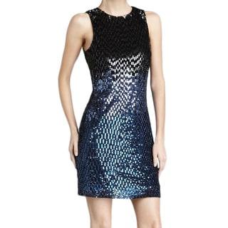 Badgley Mischka Blue Ombre Sequin Mini Dress