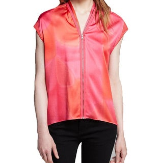 Elie Tahari Pink Dallas Silk Blouse