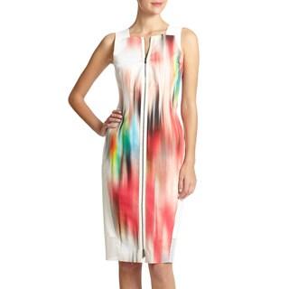Elie Tahari Davis Blur Print Dress