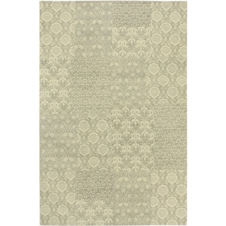 Ecarpetgallery Hand-knotted Collage Gray Wool Rug (5' x 8')