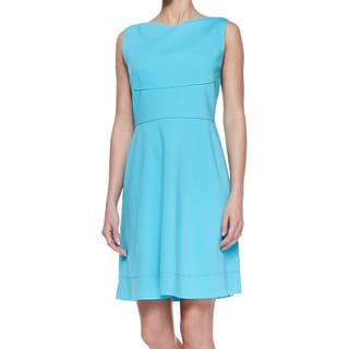 Elie Tahari Callie Ocean Blue Flared Dress