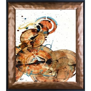 Kris Haas 'Sphere Series Painting 160010610' Framed Fine Art Print