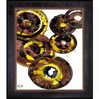 Kris Haas 'Sphere Series Painting 862121811' Framed Fine Art Print