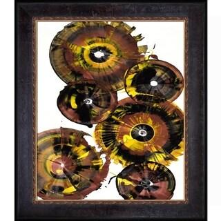 Kris Haas 'Sphere Series Painting 861121811' Framed Fine Art Print