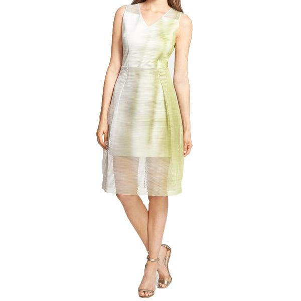 Elie Tahari Ally Green Mesh Overlay Dress -  Fashion Habits LLC, ETALLY