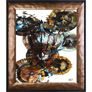 Kris Haas 'Sphere Series Painting 995042312' Framed Fine Art Print