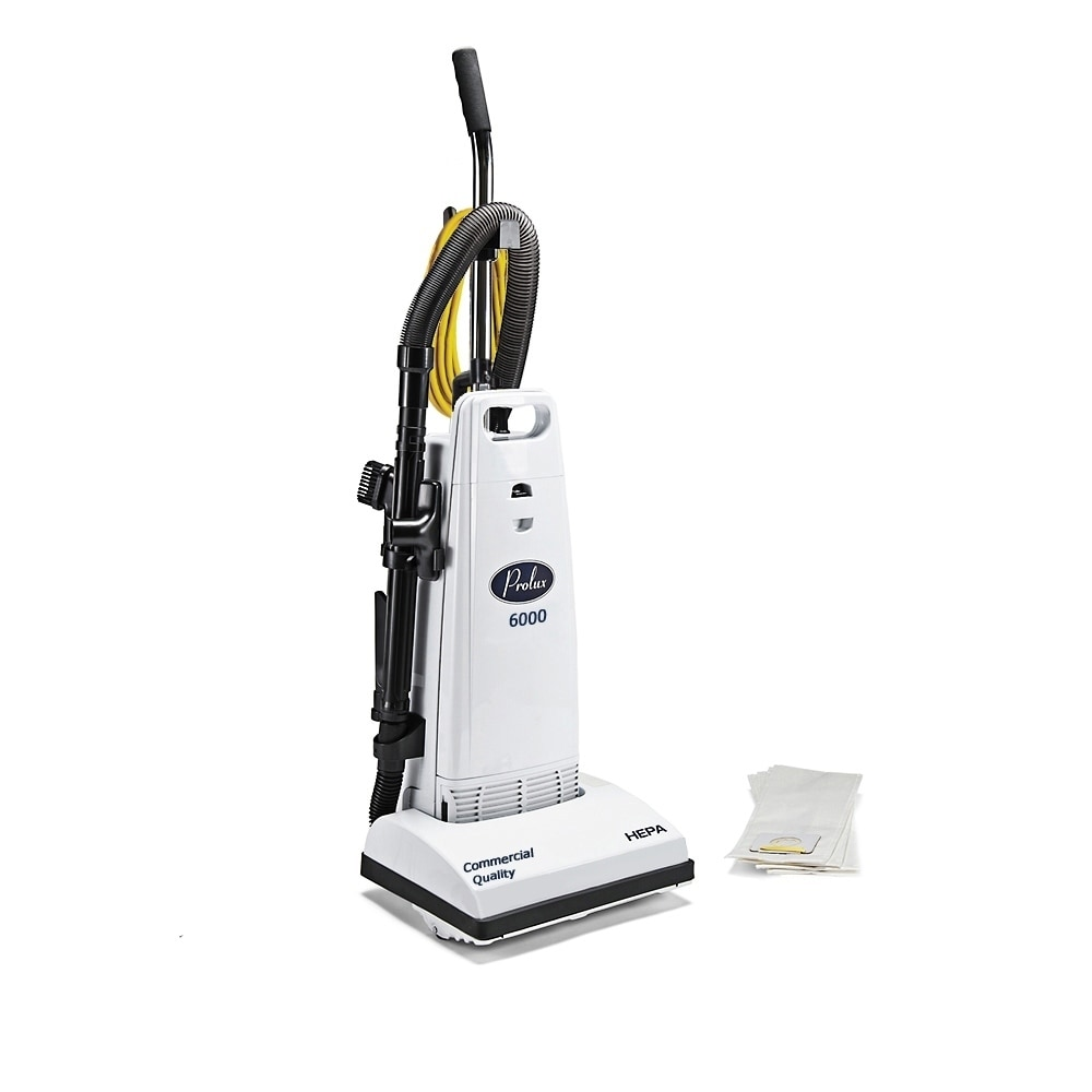 PROLUX 6000 Upright Commercial Vacuum Cleaner (White), Blue