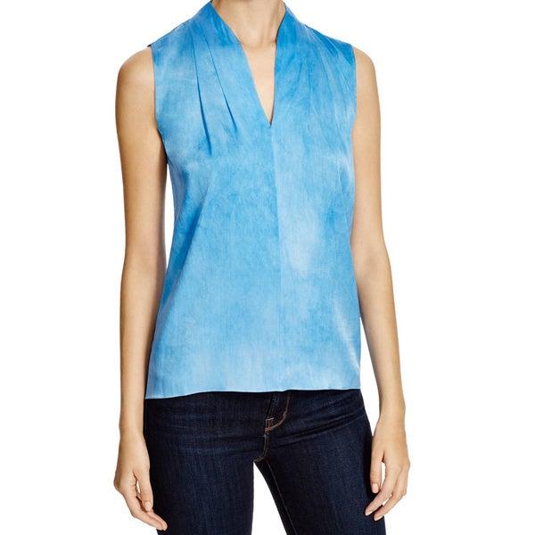 3c3a6c7e56f574 Shop Elie Tahari Judith Light Blue Silk Blouse - Free Shipping Today ...