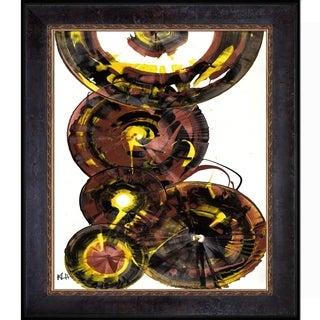 Kris Haas 'Sphere Series Painting 860121811' Framed Fine Art Print