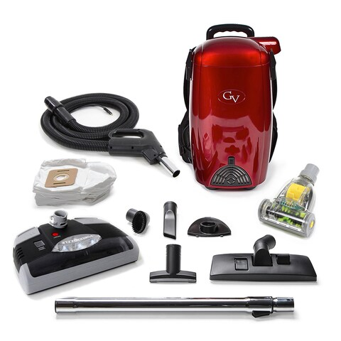 GV 8-quart Quart Light Powerful HEPA Backpack Vacuum