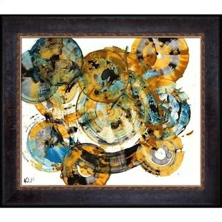 Kris Haas 'Sphere Series Painting 991042212' Framed Fine Art Print