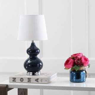 Safavieh Kids Lighting 18.75-inch Eva Navy Double Mini Table Lamp