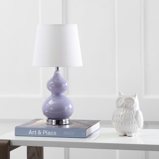 Safavieh Kids Lighting 18.75-inch Eva Purple Double Mini Table Lamp