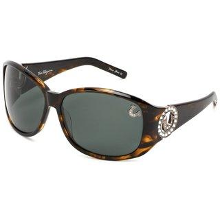 True Religion Georgi Rectangular Olive Sunglasses