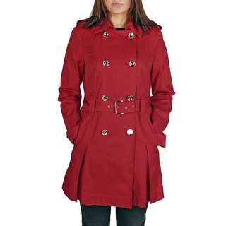 Michael Michael Kors Red Belted Trench Coat