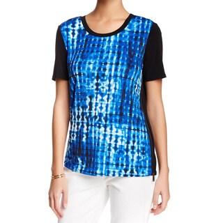 Elie Tahari Grayson Blue Silk Blouse