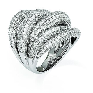Versil Sterling Silver Cubic Zirconia Ring