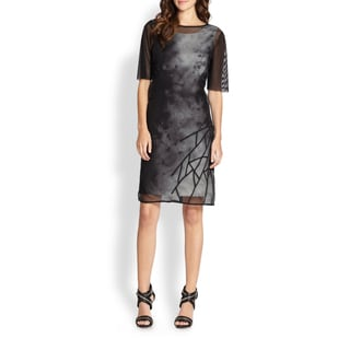 Elie Tahari Women's 'Kathleen' 2-piece Overlay Dress