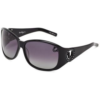 True Religion Georgi Rectangular Black Sunglasses