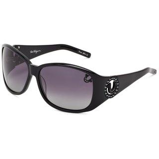 True Religion Georgi Rectangular Black Sunglasses