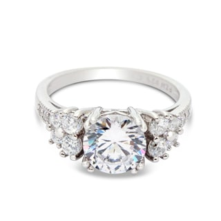 Gioelli Sterling Silver Round-cut Cubic Zirconia Engagement-Style Ring
