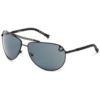 True Religion Jesse Aviator Black Sunglasses