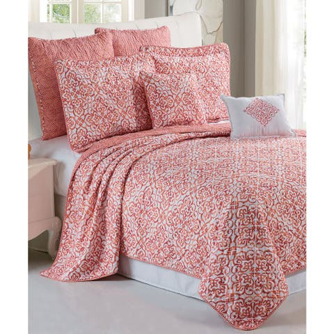 Serenta Revington Printed Microfiber 7-piece Quilt Set