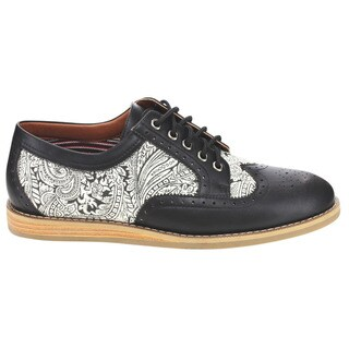 Wingtip Paisley Prined Oxfords