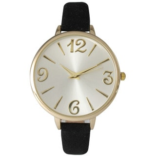 Olivia Pratt Women's Petite Leather Strap Minimalist Watch